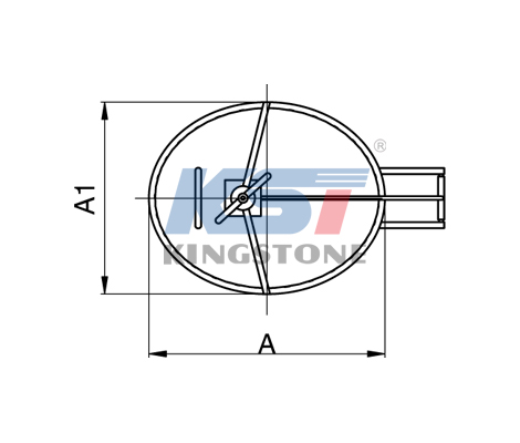 Elliptic type manhole cover (with pressure)